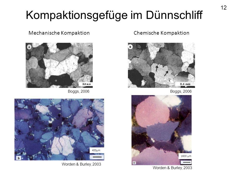 Kompaktionsgefüge im Dünnschliff