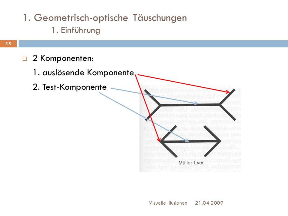 1. Geometrisch-optische Täuschungen 1. Einführung
