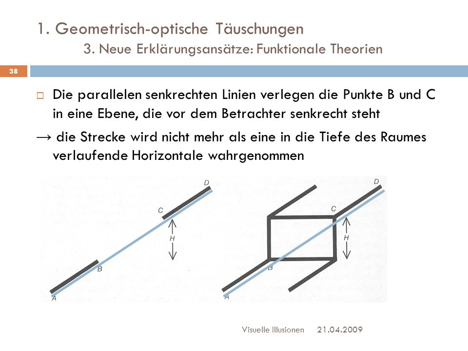 1. Geometrisch-optische Täuschungen. 3