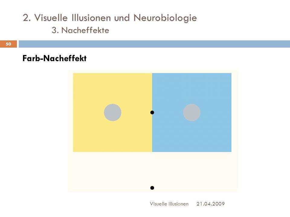2. Visuelle Illusionen und Neurobiologie 3. Nacheffekte