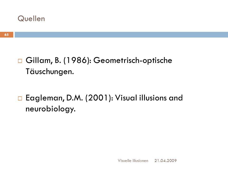 Gillam, B. (1986): Geometrisch-optische Täuschungen.