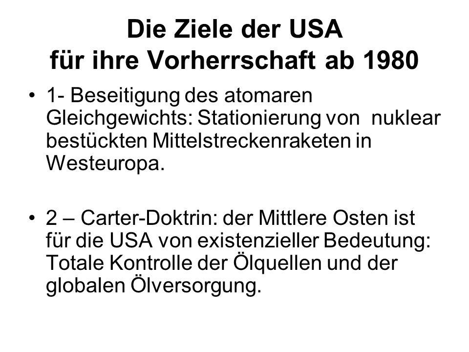 Die Ziele der USA für ihre Vorherrschaft ab 1980
