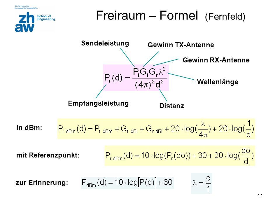 Freiraum – Formel (Fernfeld)