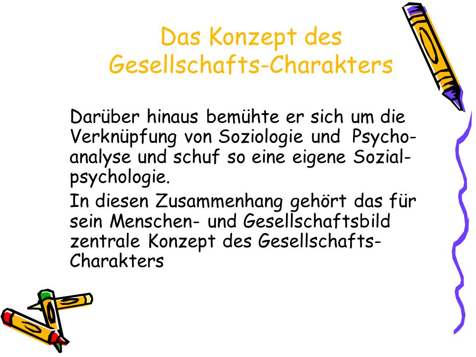 Das Konzept des Gesellschafts-Charakters