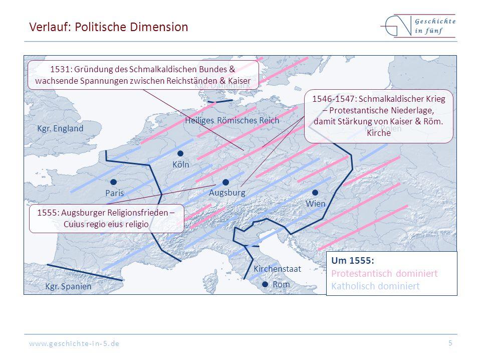 Verlauf: Politische Dimension