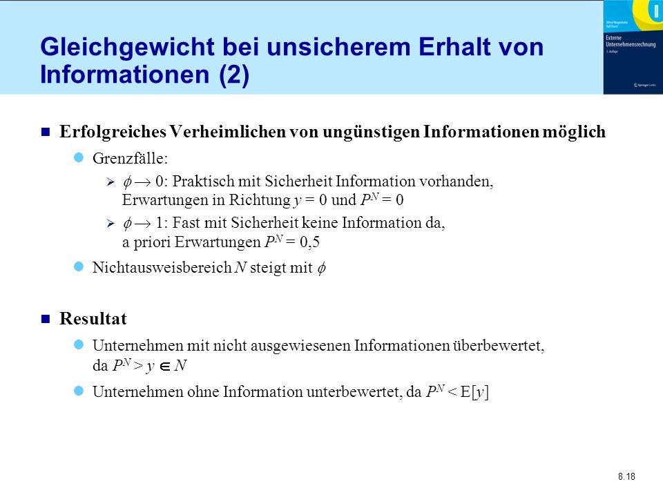 Gleichgewicht bei unsicherem Erhalt von Informationen (2)