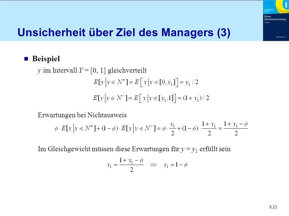 Unsicherheit über Ziel des Managers (3)