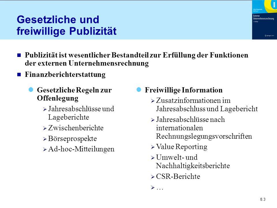 Gesetzliche und freiwillige Publizität