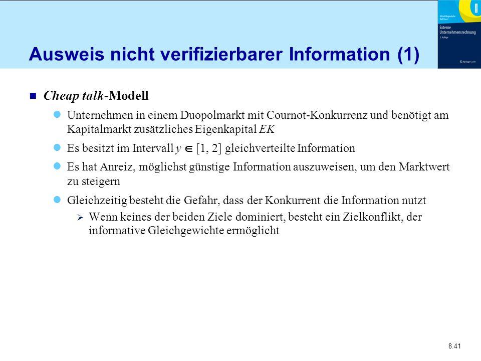 Ausweis nicht verifizierbarer Information (1)