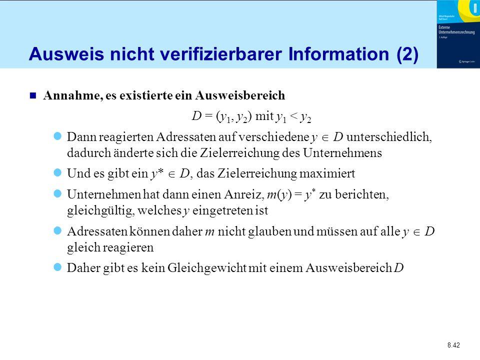 Ausweis nicht verifizierbarer Information (2)