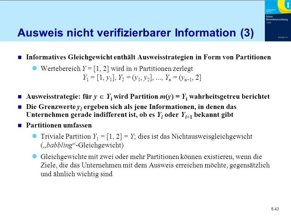 Ausweis nicht verifizierbarer Information (3)