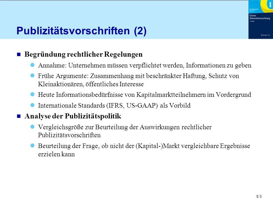 Publizitätsvorschriften (2)