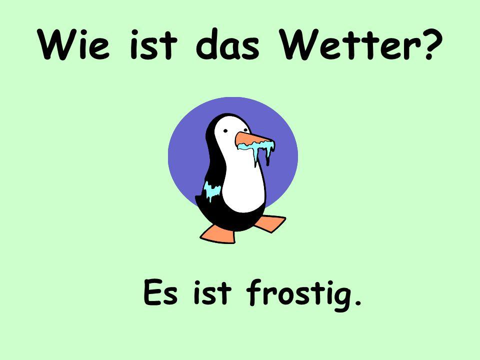 Wie ist das Wetter Es ist frostig.