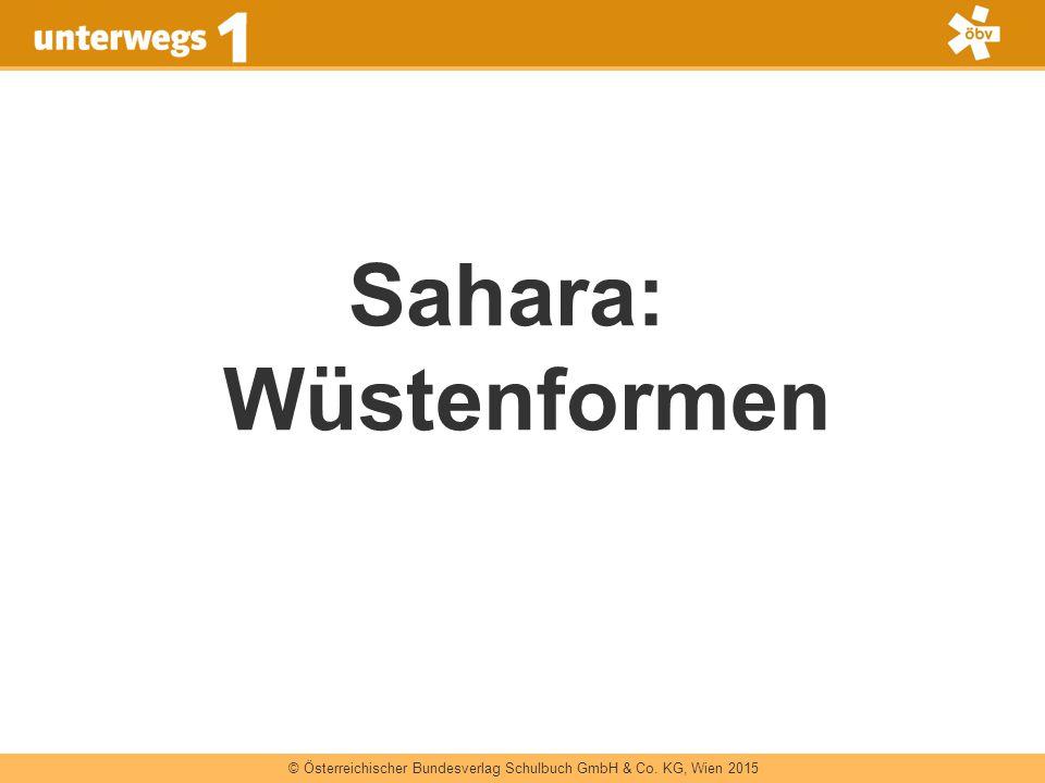 Sahara: Wüstenformen