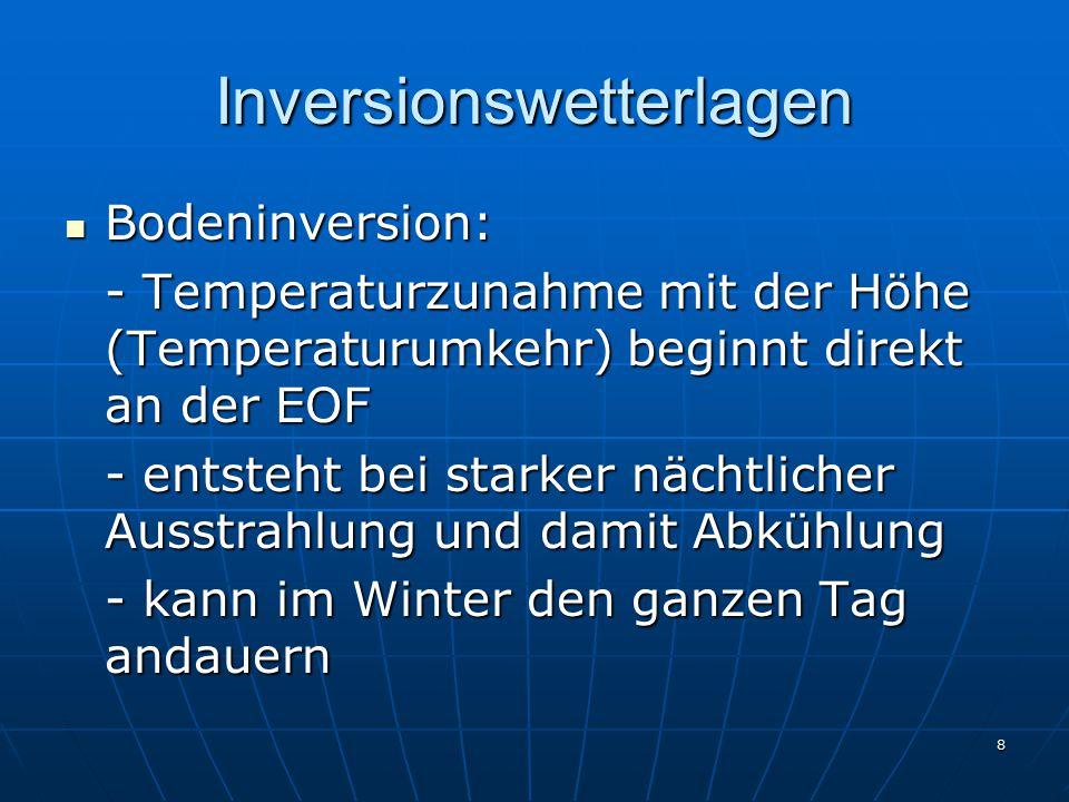 Inversionswetterlagen