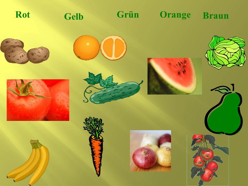 Rot Grün Orange Gelb Braun
