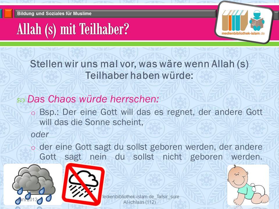 Allah (s) mit Teilhaber