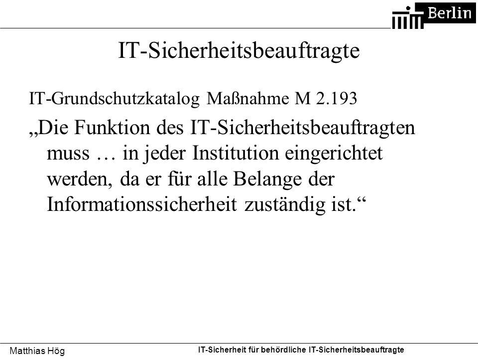 IT-Sicherheitsbeauftragte