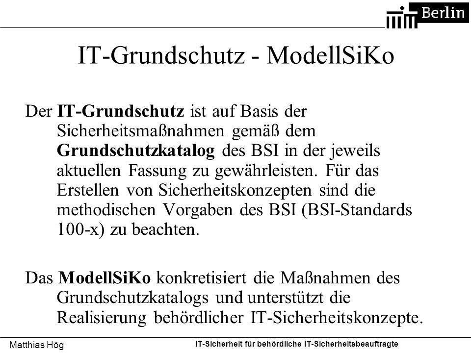 IT-Grundschutz - ModellSiKo