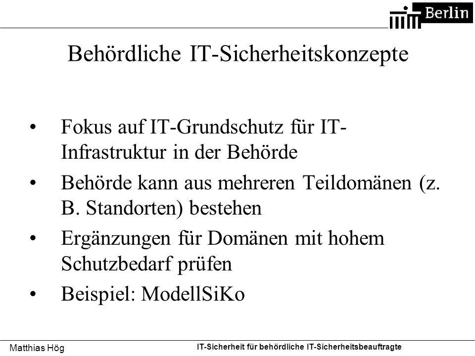 Behördliche IT-Sicherheitskonzepte