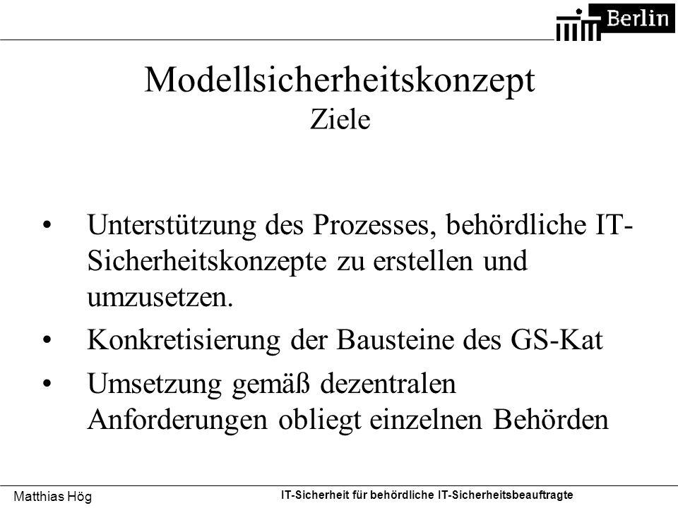 Modellsicherheitskonzept Ziele