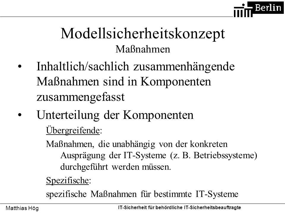 Modellsicherheitskonzept Maßnahmen