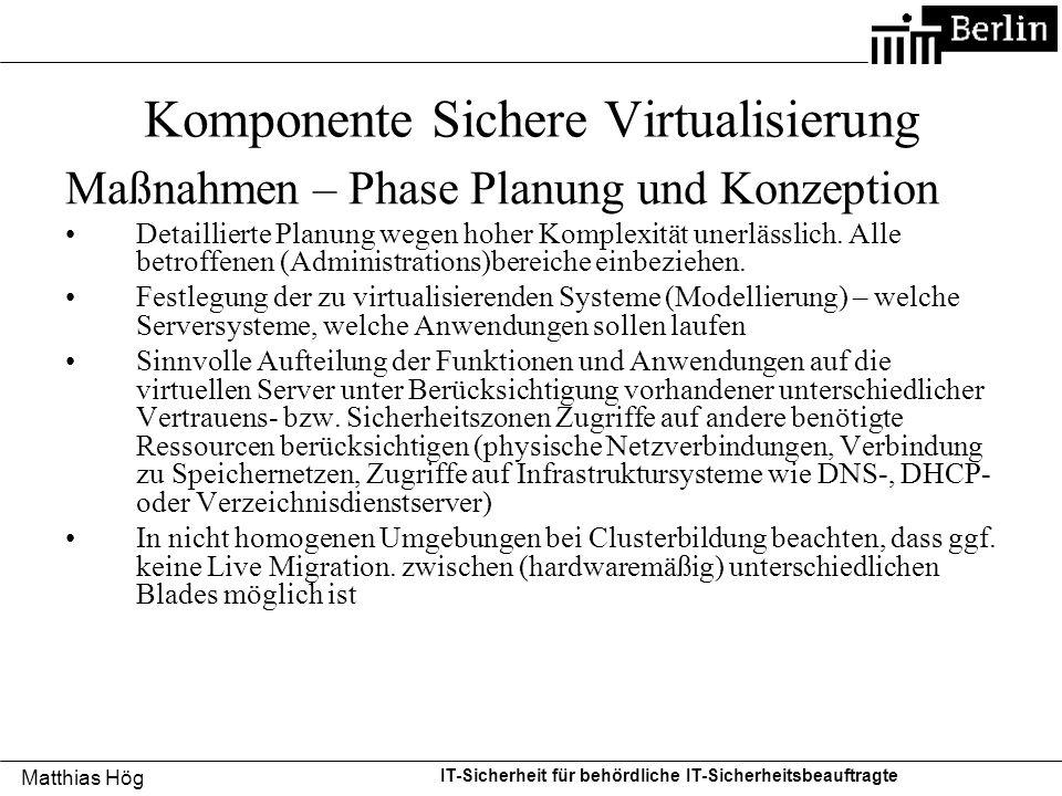 Komponente Sichere Virtualisierung