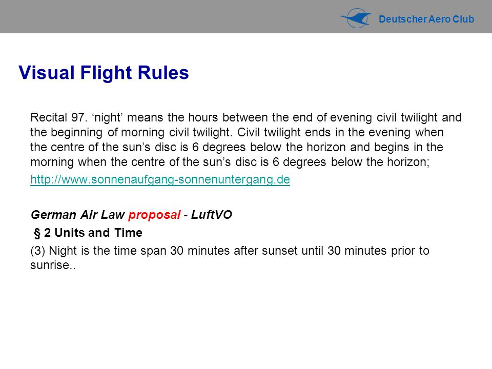 Visual Flight Rules