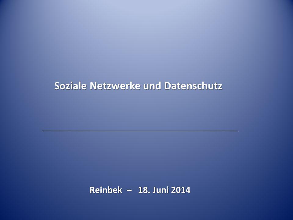 Soziale Netzwerke und Datenschutz