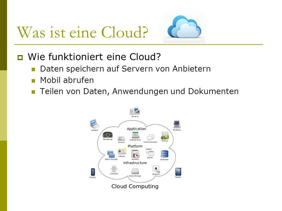 Was ist eine Cloud Wie funktioniert eine Cloud
