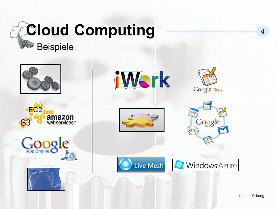 Cloud Computing 4 Beispiele