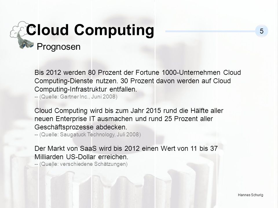 Cloud Computing Prognosen 5