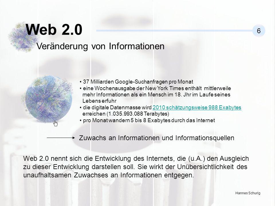 Web 2.0 Veränderung von Informationen 6