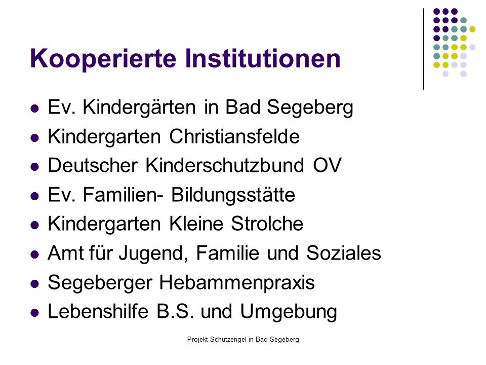 Kooperierte Institutionen