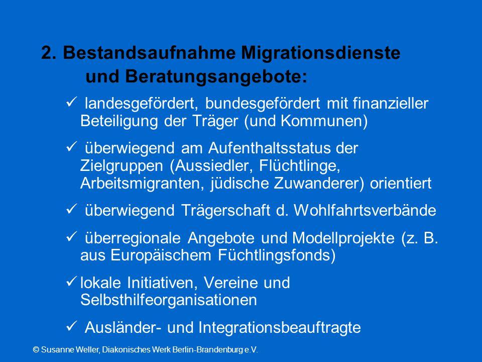 2. Bestandsaufnahme Migrationsdienste und Beratungsangebote:
