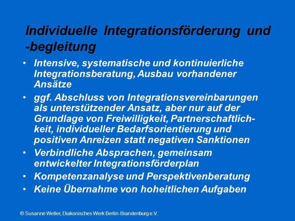 Individuelle Integrationsförderung und -begleitung