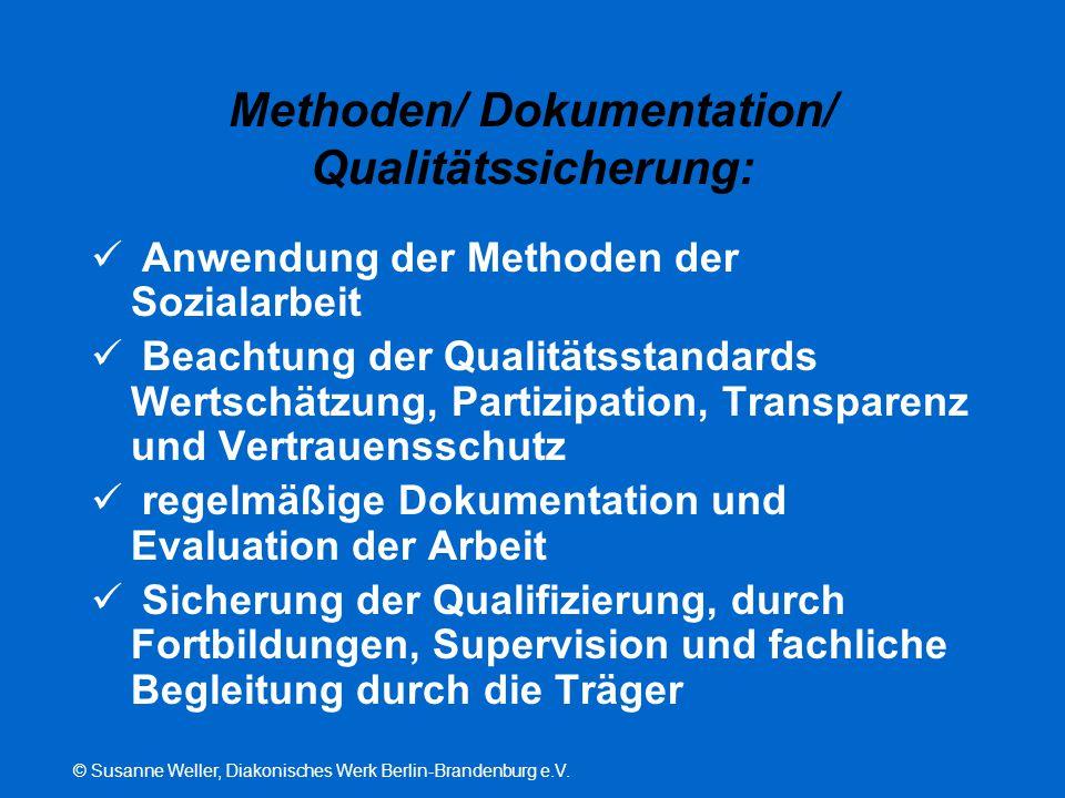 Methoden/ Dokumentation/ Qualitätssicherung: