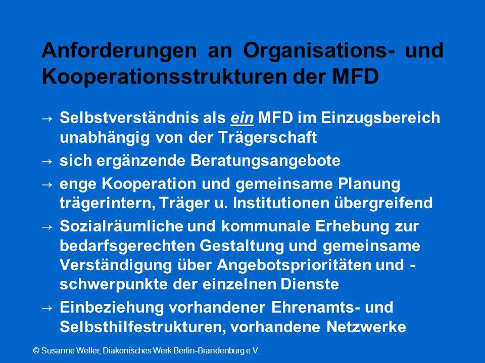 Anforderungen an Organisations- und Kooperationsstrukturen der MFD