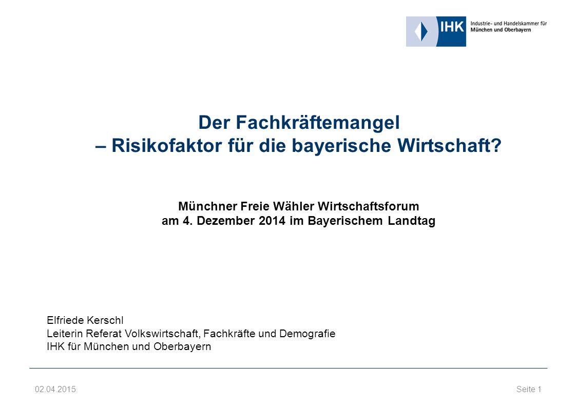 Der Fachkräftemangel – Risikofaktor für die bayerische Wirtschaft