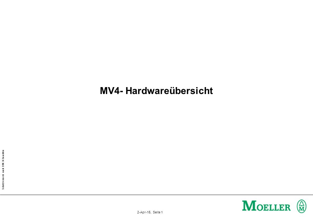 MV4- Hardwareübersicht
