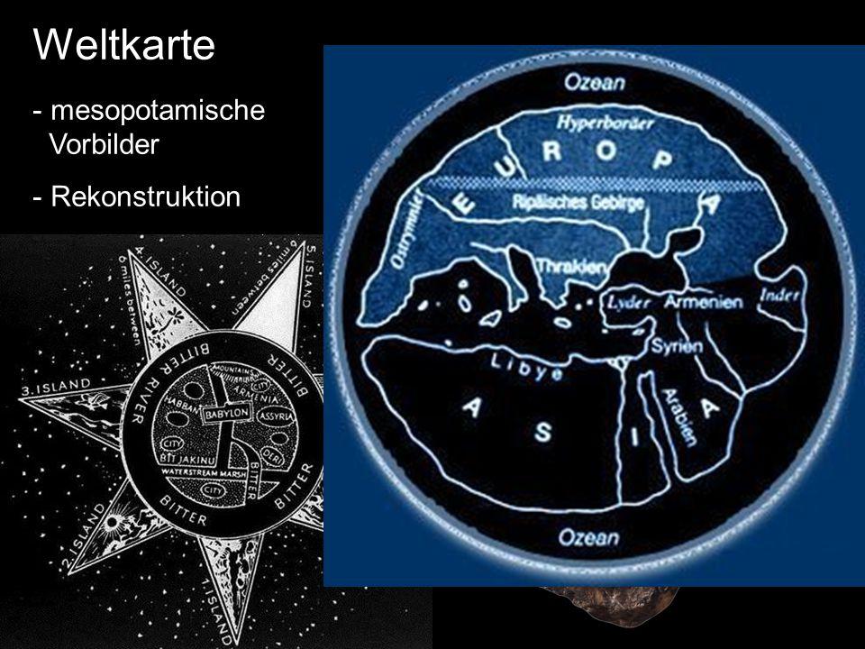 Anaximander 610-546 Weltkarte mesopotamische Vorbilder Rekonstruktion