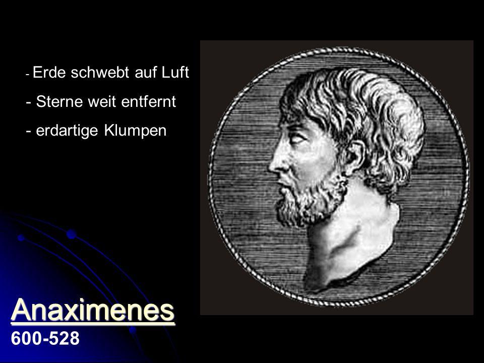 Anaximenes 600-528 Sterne weit entfernt erdartige Klumpen