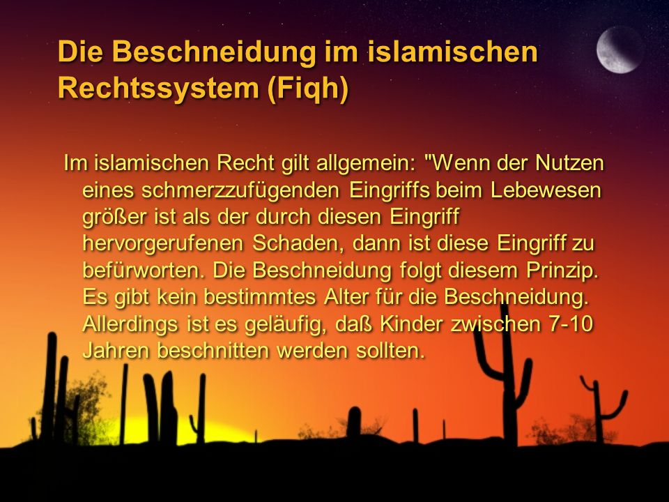 Die Beschneidung im islamischen Rechtssystem (Fiqh)