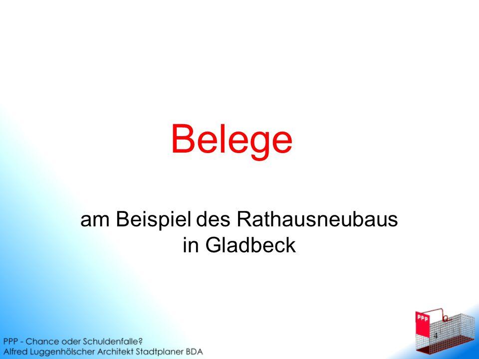 am Beispiel des Rathausneubaus in Gladbeck