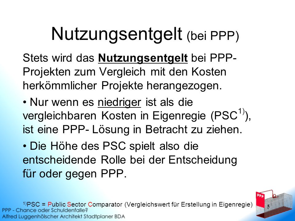 Nutzungsentgelt (bei PPP)