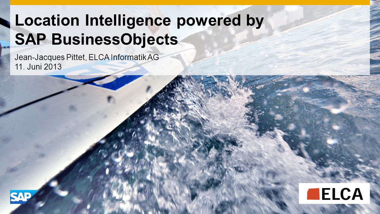 Location Intelligence powered by SAP BusinessObjects