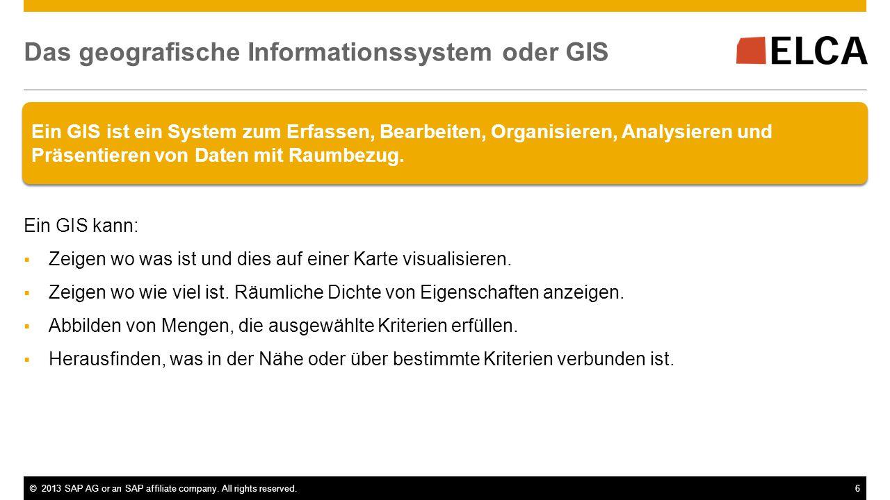 Das geografische Informationssystem oder GIS