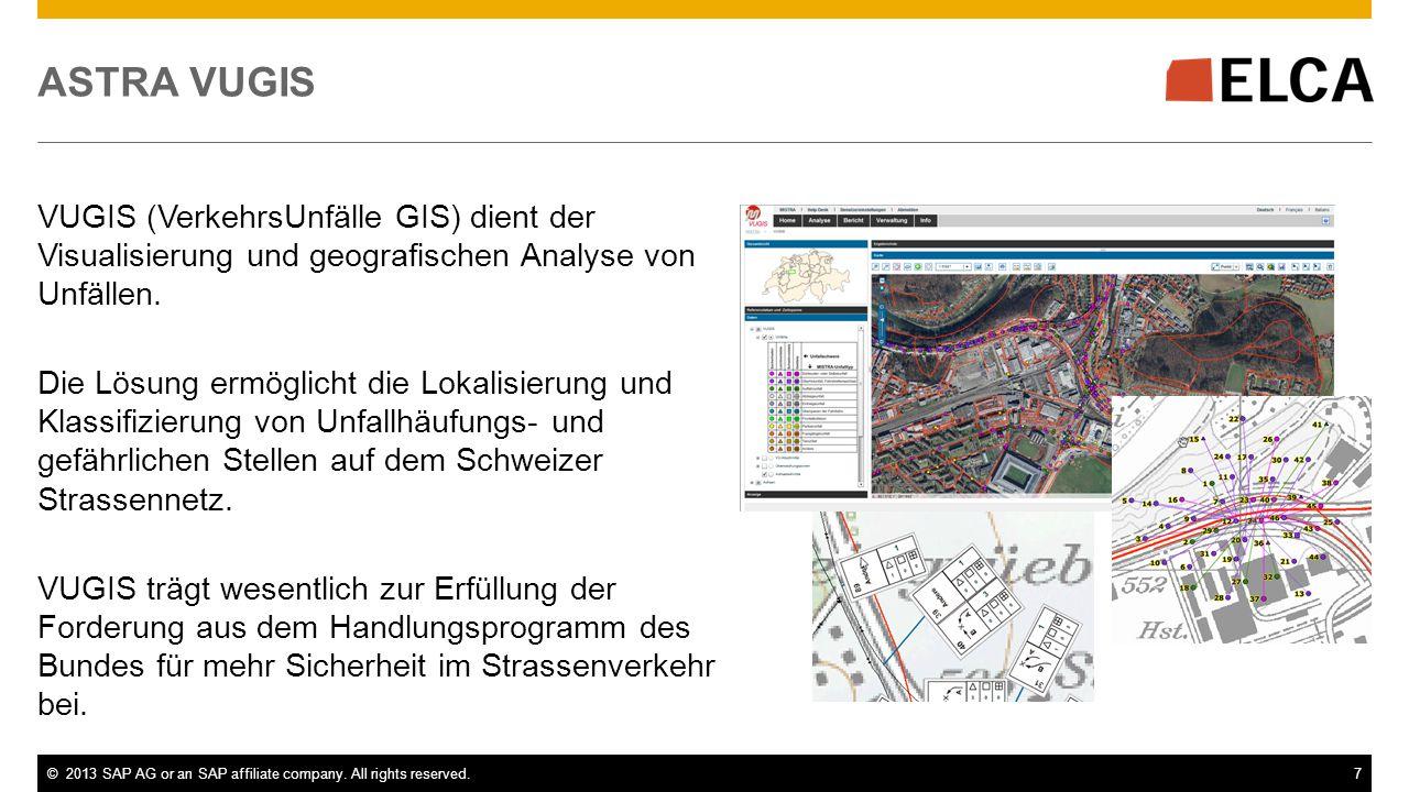 ASTRA VUGIS VUGIS (VerkehrsUnfälle GIS) dient der Visualisierung und geografischen Analyse von Unfällen.