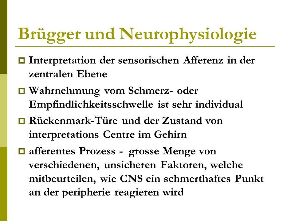 Brügger und Neurophysiologie