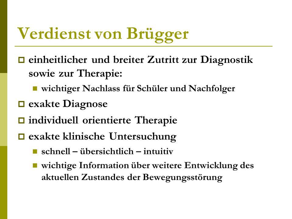 Verdienst von Brügger einheitlicher und breiter Zutritt zur Diagnostik sowie zur Therapie: wichtiger Nachlass für Schüler und Nachfolger.
